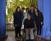Man in wheelchair with his family in Morocco